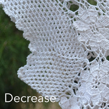 Crochet Mesh - decrease sleeves