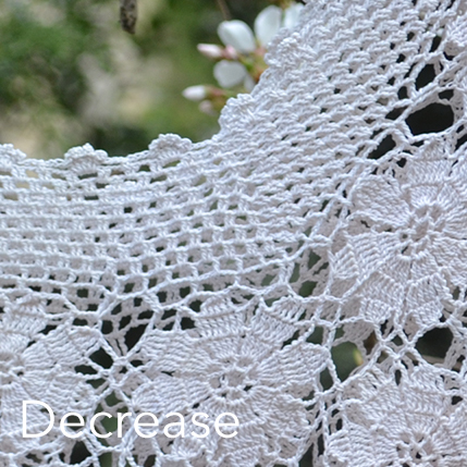 Crochet Mesh - decrease neckline