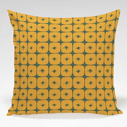 Decorative Pillow shown in Boxed In (Butternut)
