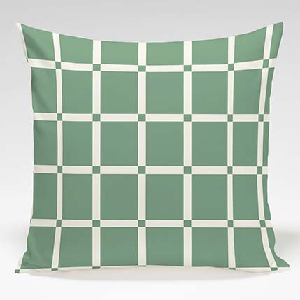 Decorative Pillow shown in Checkers (Spruce)